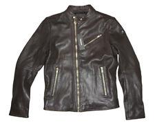 Diesel R-oyton 73p Dark Brown Leather Jacket L