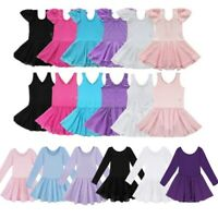 Classic Girls Ballet Leotard Dress Gymnastics Dancewear Kids Yoga Suit Costume