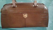 Etienne Aigner genuine caramel brown leather shoulder handbag
