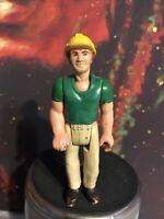 Vintage Fisher Price Action Figure Adventure People Construction Worker 352