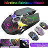 X13 Wireless Gaming LED RGB Mouse 2.4G Bluetooth USB Rechargeable Backlight Mice