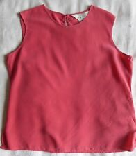 Ladies red silk sleeveless top (size 14) by Tie Rack