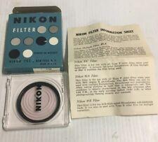 Original New Old Stock NIKON No. 1A 48mm UV HAZE (SKYLIGHT) FILTER, CASE, & BOX