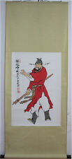 """RARE Chinese 100%  Handed Painting & Scroll """"钟馗神威"""" By Fan Zeng 范增"""