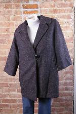 CAbi Womens Jacket Coat Sz S Black Tweed Wool ¾ Wide Sleeve A-Line BLAIR #689