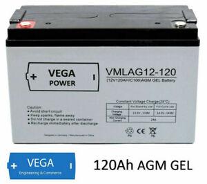 12V 120Ah AGM Gel Batterie Akku Solarbatterie Wohnmobil Boot Caravan C100