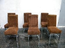Mid Century Modern Six Chrome Dining Room Chairs 5599X