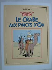 HERGE TINTIN SERIGRAPHIE LE CRABE AUX PINCES D OR   60 x 80 MOULINSART  NEUF