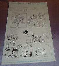 SMALLVILLE~SUPERMAN ARGO PENCIL/INK PAGE #1~ORIGINAL ART~DANIEL HDR