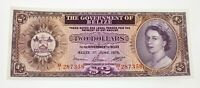 1975 Belize 2 Dollar Note in Uncirculated Condition P #34b
