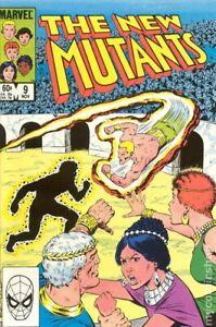 New Mutants #9 VG 1983 Stock Image Low Grade