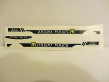 Res1Cue Customs - Toledo OH. Police Decals 1997 Chevy 1:43 Scale  (219)