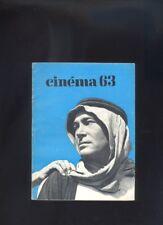 Cinema 63 Le Guide Du Spectateur ,cinema J.P. Melville ,Jean Effel, Fellini  R