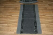 13 Carpet Stair case Treads + Runner Grey Stain Free Carpet Runner + Pad
