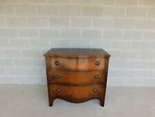 """Vintage Mahogany Regency Style Serpentine Front Chest 36""""W"""