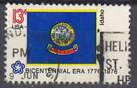 USA Briefmarke gestempelt 13c Bicentennial Era Idaho 1976 Rundstempel / 2279