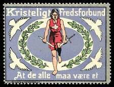 Denmark Poster Stamp - 1912 Kristeligt Fredsforbundet - Christian Peace Society