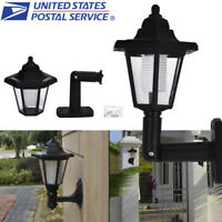 2x Solar Power LED Light Path Way Wall Landscape Mount Garden Outdoor Fence Lamp
