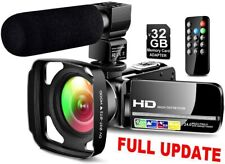 Ultra HD Video Camera Camcorder with Powerful Microphone 1080P Vlogging Camera
