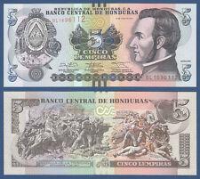 Honduras 5 lempiras 2014 UNC P. 98 B