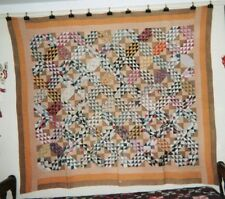 """""""OCEAN WAVES"""" with three Borders QUILT: 66"""" x 74"""", c.1890, from PA. Cottons"""