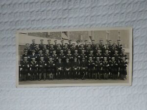WW2 Royal Navy Group Photo – Collingwood Dvn HMS King Alfred Hove 1943-4 Signed