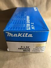 "Makita 3""X 24"" Sanding Belts 60 Grit Pack Of 10"