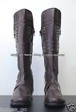 Space Pirate Captain Harlock Cosplay Boots Mens Size US9/27cm