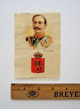 S-78 Ruler with National Arms Ca1915 Tobacco Silk - King Norway Haakon