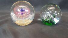 Paire de verre coloré PAPERWEIGHT avec Mystique Patterns