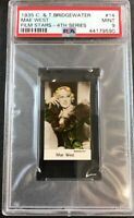 1935 C. & T. Bridgewater Film Stars-4th Series 14 Mae West  PSA 9  Mint