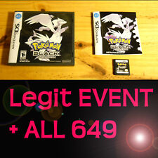 Pokemon Black 1 Loaded With All 649 + 60 Legit Event Unlocked Poketransfer Bank