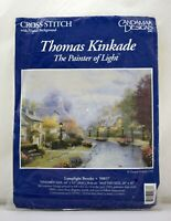 Candamar Designs Thomas Kinkade Lamplight Brooke Cross Stitch Kit - NEW Sealed