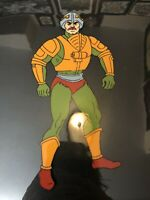 MAN AT ARMS HE-MAN AND THE MASTERS OF THE UNIVERSE PRODUCTION ANIMATION CEL MOTU