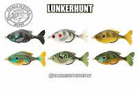 Lunkerhunt Propfish Sunfish Plopper Hollow Body Topwater 3.25in 1/2oz - Pick