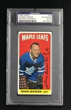 JOHNNY BOWER SIGNED TOPPS 1964 MAPLE LEAFS CARD #40 PSA/DNA Auto HOF