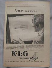1945 KLG Spark Plugs Original advert