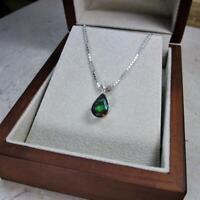Beautiful Pear Cut Emerald 1.80 CT 935 Argentium Silver Women's Necklace Pendant