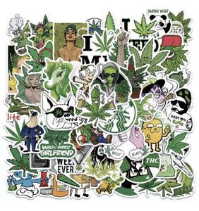 20x Weed Ganja Smoking Skateboard Stickers - Matte Stickers- 20 Pack Laptop/ Car