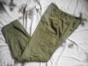 """BRITISH ARMY FLAKLANDS WAR era lightweight trousers lightweights OG GREEN 34"""""""