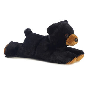 "8"" Aurora World Mini Flopsie Plush - Black Bear"