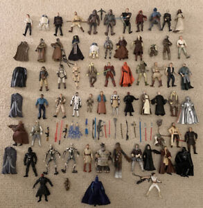 Star Wars Figures - Job lot Of 58 Figures & Weapons!