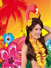 A63✪ Aloha Beach Hippie Set Ohrringe Kette Haarspange Hawaii Blumen Party ...