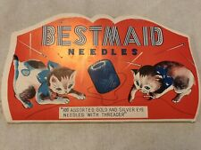Best Maid Vintage Sewing Needles Pack, Kittens Graphics, Japan