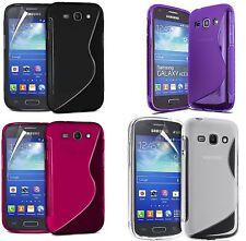 S Line Gel De Silicona Funda Y Protector De Pantalla Para Samsung Galaxy Ace 4 g357