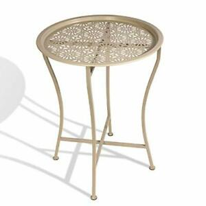 Atlantic Daisy Tray Side Table - Tabletop Lifts Off to Serve as a Tray Powder...