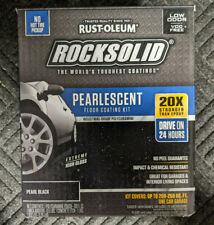 Rust-Oleum RockSolid Pearlescent Floor Coating 1 Car Kit Pearl Black 306325 NEW
