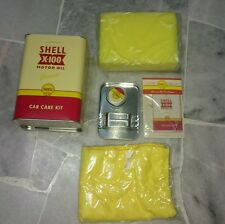 125 Years Shell Malaysia Red Peach Retro Car Care Kit Extra large Canister Tin