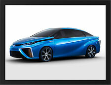 BLUE TOYOTA FCV CONCEPT NEW A3 FRAMED PHOTOGRAPHIC PRINT POSTER