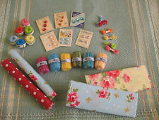 miniature crochet, wool, button bundle, dolls house, haberdashery shop, sewing